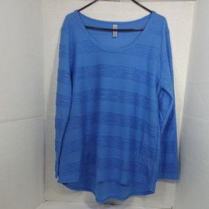 LuLaRoe Sky Blue Lightweight Knit Top 2XL